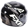 FXR Youth Nitro Core Helmet w/Dual Lens Shield - Black-White-Charcoal