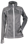 DSG Women's Performance Fleece Jacket by Divas Snow Gear - Black Heather-White