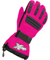 Castle X Youth Platform Snowmobile Gloves - Pink Glo