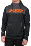FXR Pursuit Tech Pullover Hoodie - Black-Orange