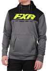FXR Pursuit Tech Pullover Hoodie - Grey Heather- Hi Vis
