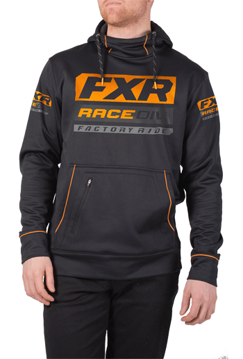 FXR Race Division Tech Pullover Hoodie - Black-Orange