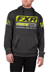 FXR Race Division Tech Pullover Hoodie - Charcoal Heather- Hi Vis