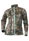 DSG Women's Performance Fleece Jacket by Divas Snow Gear - Realtree Xtra-Aqua