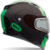 Bell Revolver Evo Snowmobile Helmet-Matte Rally Green W/Elec Shield