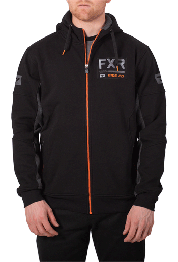 FXR Casual Ride Co Hoodie - Black-Orange