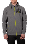 FXR Casual Ride Co Hoodie - Grey Heather- Hi Vis