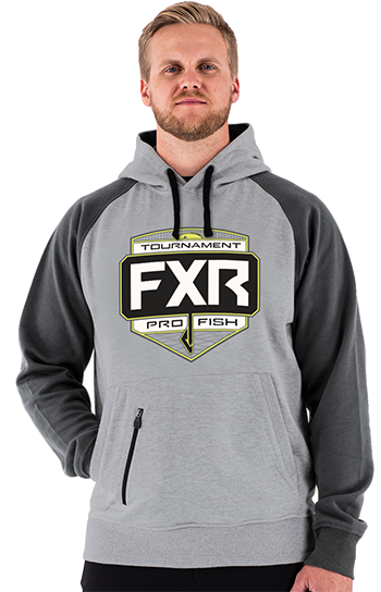 FXR Tournament Pullover Hoodie - Grey-Charcoal