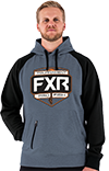 FXR Tournament Pullover Hoodie - Steel-Black