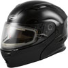 GMAX MD01S Modular Solid Snowmobile Helmet w/Electric Shield