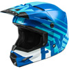 Fly Youth Kinetic Thrive Snowmobile Helmet - Blue-White