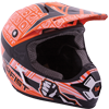 Motorfist Dominator Snowmobile Helmet - Orange-White