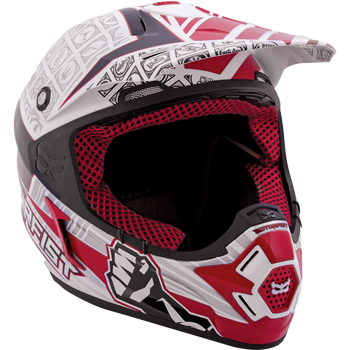 Motorfist Dominator Snowmobile Helmet - Red-White