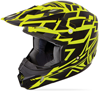 Fly Youth Kinetic Block Out Helmet  - Black - Hi-Vis Yellow