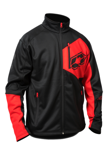 Castle X Fusion G2 Mid-Layer Snowmobile Jacket - Black-Red