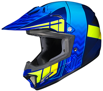 HJC CL-XY II Youth Cross Up Snocross Helmet - MC2H-Blue-Neon