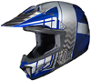 HJC CL-XY II Youth Cross Up Snocross Helmet - MC2-Blue-Silver