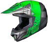 HJC CL-XY II Youth Cross Up Snocross Helmet - MC4-Green