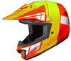 HJC CL-XY II Youth Cross Up Snocross Helmet - MC6-Orange-Neon