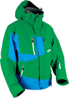 HMK Peak 2 Snowmobile Jacket  - Green/Blue