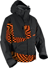 HMK Peak 2 Snowmobile Jacket  - Orange Checker