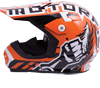 Motorfist Magneto Snowmobile Helmet - Orange-White